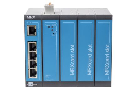 Insys Microelectronics, 5 ports Industrial Router - RJ45 Connections, 10/100Mbit/s Transmission Speed DIN Rail