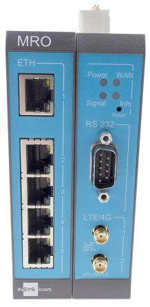 Insys Microelectronics, 5 ports Industrial Router, 10/100Mbit/s Transmission Speed DIN Rail