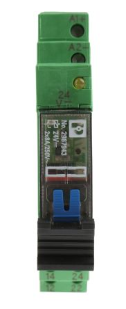 PLC-RSC Series 24V dc DIN Rail Interface Relay Module, DPDT, Screw product photo