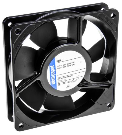 ebm-papst 9900 Series Axial Fan, 119 x 119 x 25mm, 117m³/h, 14W, 230 V ac