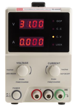 RS PRO Bench Power Supply Digital 300W, 1 Output 60V dc 0 → 5A
