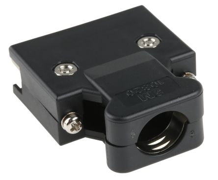 103 Series Polymer D-sub Connector Backshell, 20 Way, Strain Relief product photo