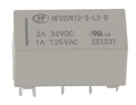 Hongfa HFD2//012-S-L2-D PCB Signal Relay 12VDC DPDT 3A