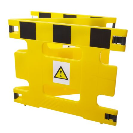 Addgards Black & Yellow Barrier, 800mm x 1m.
