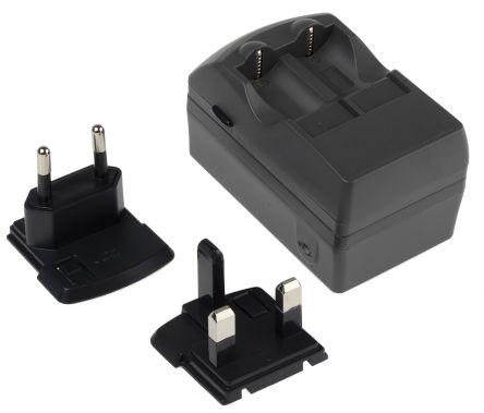 Charger for CR123 batteries + UK & EU pl