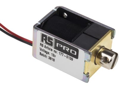 Linear Solenoid Actuator, 12 V, 26 x 20 x 36.8 mm product photo