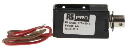 RS PRO Linear Solenoid Actuator, 24 V, 30 x 27 x 53.5 mm