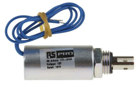 Pull Action Tubular Solenoid, 10mm stroke, 12 V, 70W