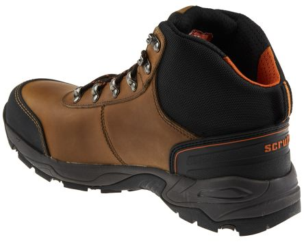 for whole family premium selection outlet boutique Scruffs Assault Brown Steel Toe Cap Ankle Safety Boots, UK 8, EU 42, US 9