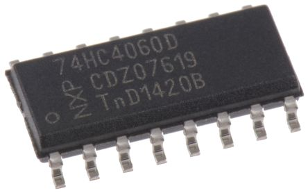 Nexperia 74HC4060D,652 14-stage Binary Counter, Up Counter, Uni-Directional, 16-Pin SOIC
