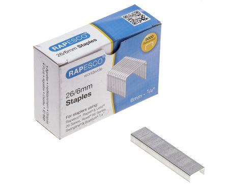 Rapesco 26/6mm Galvanised Staples Box of