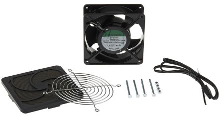 Schneider Electric Filter Fan124 x 124mm Face Dimensions, 65 m³/h @ 50 Hz, AC Operation, 230 V, IP20