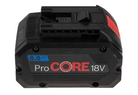 Bosch 1600A016GK 8Ah 18V Power Tool Battery, For Use With 18 V Range Angle Grinder, 18 V Range Circular Saw, 18 V Range