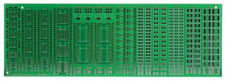 RE716001-LF, Double-Sided SMD Soldering Exercise Board FR4 for 11 Multiple Types Packages 213 x 72 x 1.5mm