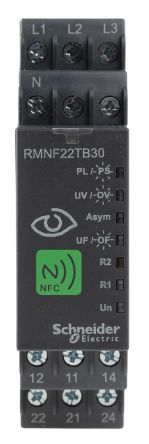 Schneider Electric Frequency, Voltage with NFC Monitoring Relay, 208 → 480 V ac Supply Voltage, 3 Phase