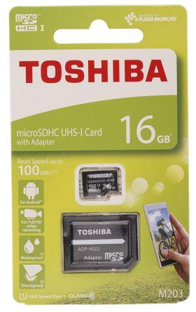Toshiba 16 GB MicroSD Card Class 10, UHS-1 U1
