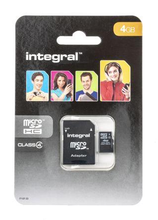 Integral Memory 4 GB MicroSDHC Micro SD Card