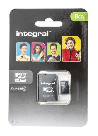 Integral Memory 8 GB MicroSDHC Micro SD Card