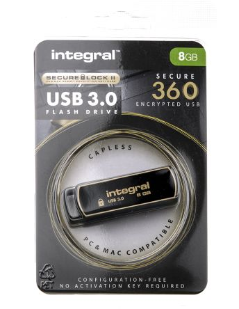 Integral Memory 8 GB USB 3.0 Flash Drive Software Encrypted Flash Drive