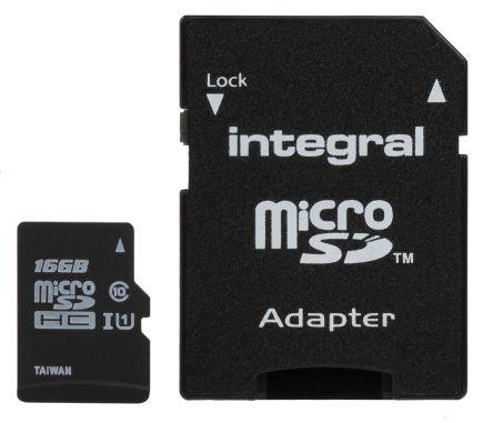 Integral Memory 16 GB MicroSDHC Micro SD Card