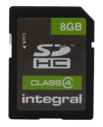 Integral Memory 8 GB SDHC SD Card