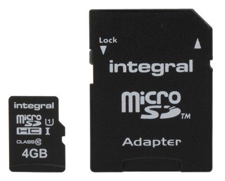 Integral Memory 4 GB MicroSDHC Card Class 10