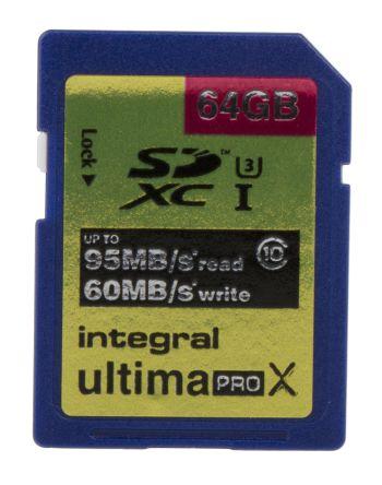 INTEGRAL 64GB MICRO SDXC CL10 UHS 1 U3 R