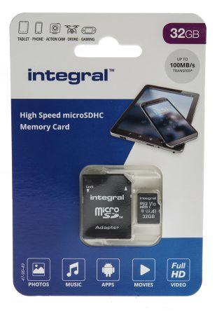 Integral Memory 32 GB MicroSDXC Card Class 10, UHS-1 U1