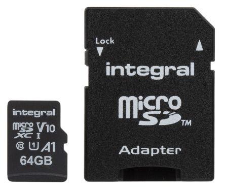 Integral Memory 64 GB MicroSDXC Card Class 10, UHS-1 U1