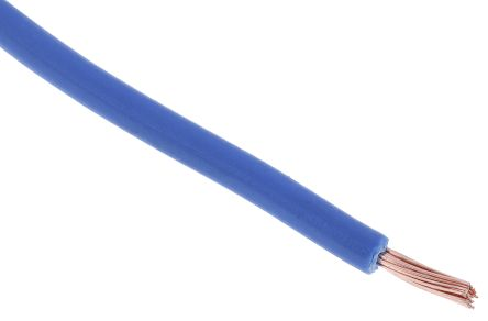 RS PRO Blue Tri-rated Cable, 0.5 mm² CSA, 1 kV dc, 600 V ac, 11 A, 100m