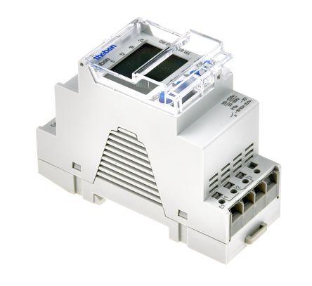1 Channel Digital DIN Rail Time Switch, 110 → 230 V ac
