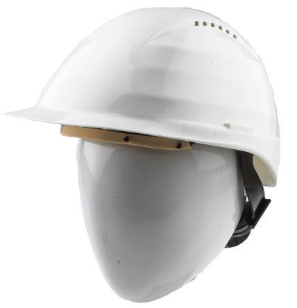 Alpha Solway Rockman White Hard Hats, Ventilated