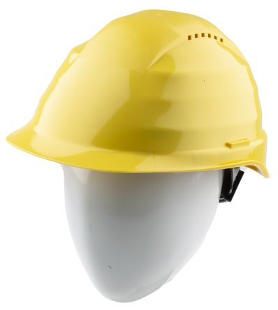 Rockman Yellow Polyethylene Vented Hard Hat product photo
