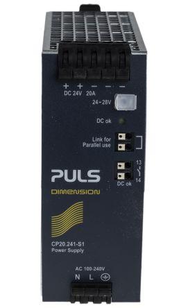 SDN20-24-100C | SolaHD, SDN-C DIN Rail Power Supply, 24V dc Output