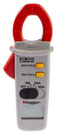 Megger DCM310 Current Clamp Clamp Meters, Max Current 400A ac CAT III 600 V