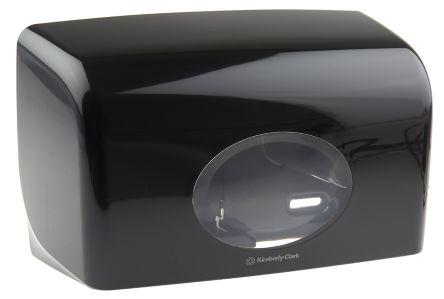 Kimberly Clark Black Toilet Roll Dispenser, 191mm x 139mm x 309mm