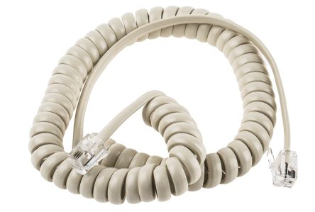 Cream Telephone Extension Cable Male RJ9(4/4) to Male RJ9(4/4) product photo