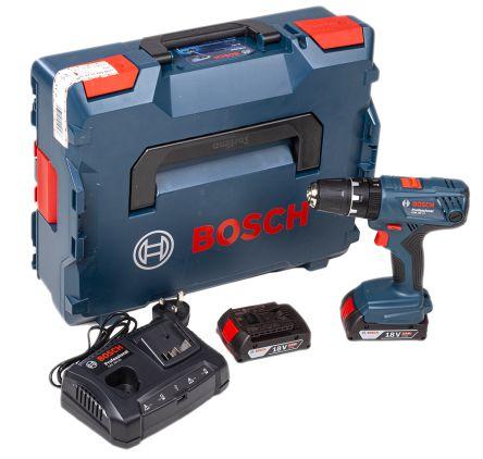 Bosch Keyless GSB 18V, 2Ah Li-ion Cordless Drill Driver, UK Plug