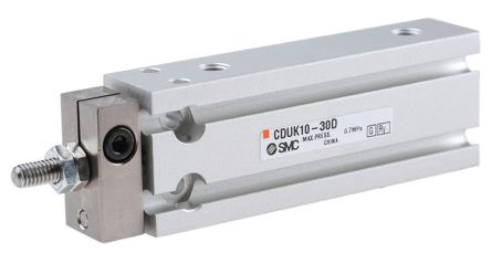 Pneumatic Multi-Mount Cylinder CUK Series, Double Action, Single Rod, 10mm Bore, 30mm stroke product photo