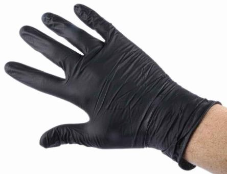 RS PRO Black Disposable Gloves size Small Powder-Free | RS Components