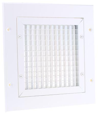 White Aluminium Vent Grille, 200 x 200mm product photo