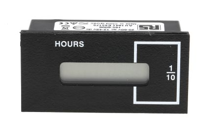 Curtis Hour Counter, 6 digits, LCD, Tab Connection, 12 → 48 V dc, 20 → 60 V ac