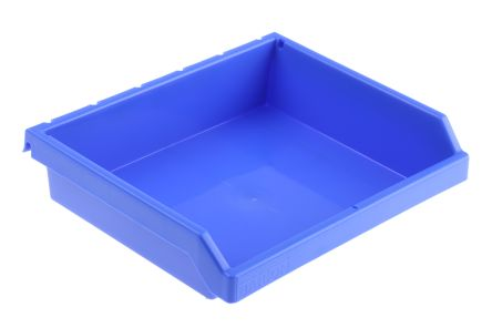 RS Pro Blue Plastic Storage Bin, 47mm X