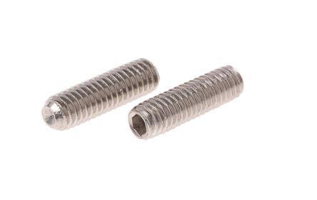 3,4,5,6,8,10mm Socket Set Grub Screw Plain Cup Point A2 Stainless Steel Choice