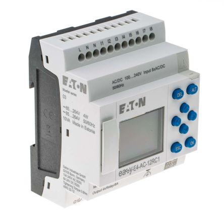 Eaton EASY-E4 Logic Control, 100 → 240 V ac/dc Digital, Relay, 8 x Input, 4 x Output With Display