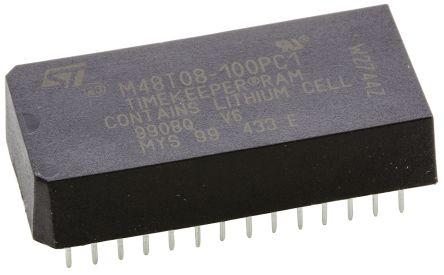 STMicroelectronics M48T08-100PC1 NVRAM, 64kbit, 100ns, 5V 28-Pin PCDIP