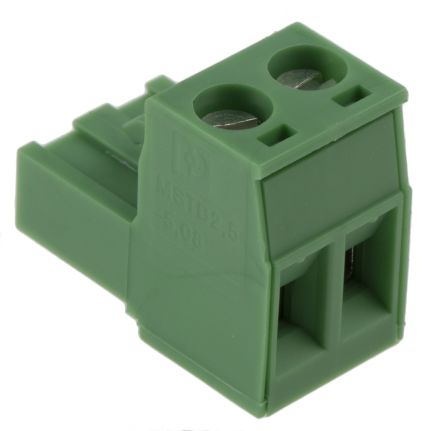 Phoenix Contact Non-Fused Terminal Block, 2 Way/Pole, Screw Down Terminals, 30 → 12 AWG Cable Mount, Nylon