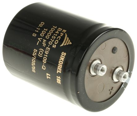 B41570E9109Q | EPCOS B41570 Alu Kondensator, Elko radial 10000μF ...