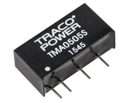 TRACOPOWER TMA 1W Isolated DC-DC Converter Through Hole, Voltage in 4.5 → 5.5 V dc, Voltage out 5V dc