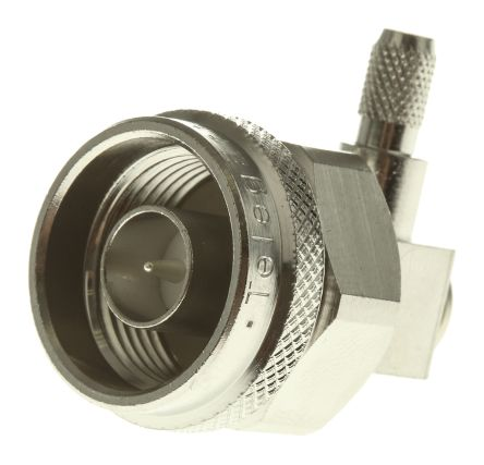 50O Right Angle Cable Mount N Type Connector, Plug, Solder Termination, 0 -> 11GHz product photo